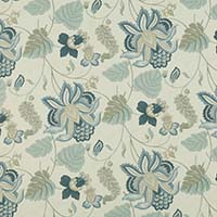 jacobean opulence blue/cream